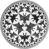 Escher : Circle limit IV (Heaven and Hell)